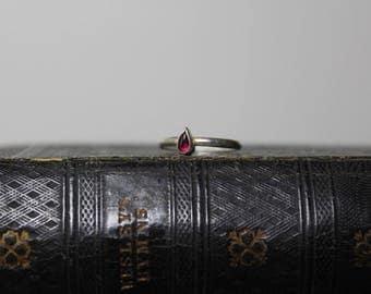 Garnet Teardrop Ring