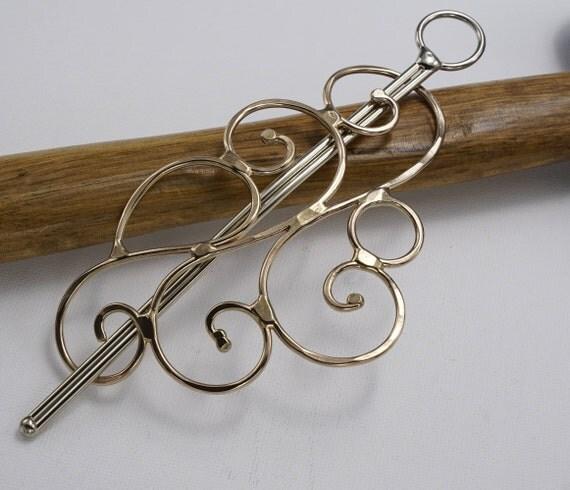 Sturdy swirled bronze hair barrette