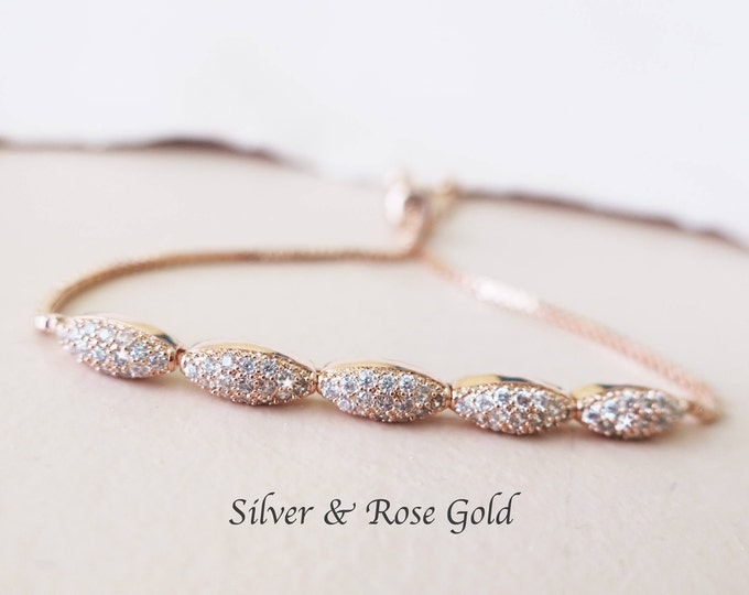 Rose Gold Crystal Bracelet TWANA