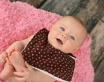Baby Bib/ Handmade Bib/ Flower Bib/ Baby Girl Bib/ Chenille Bib/ Toddler Bib/ Boutique Bib/ Newborn Bib/ Baby Shower Gift/ Photo Prop/ Bibs