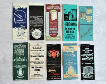 Lot of 10 Vintage Matchbook Covers - LOT A