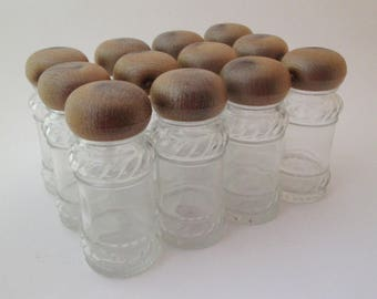 vintage spice jar set faux bois glass spice jars spice set spice