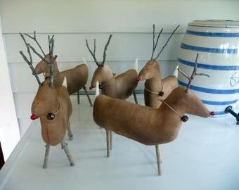 Primitive deer reindeer prim Christmas Rudolf
