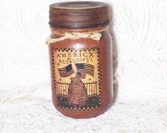 Grungy Jar Candle - America the Beautiful - Pint