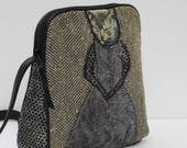 SMALL SHOULDER BAG  Fabric and Leather Shy Kitty s Red Carpet Moment
