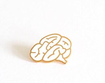 Brain Pin Badge, Brain Brooch, Brain Pins, Hard Enamel Pin Brooch, Lapel Pin, Graduation Gift, RockCakes