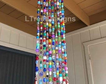 Wind Chime with Glass Beads and Bells