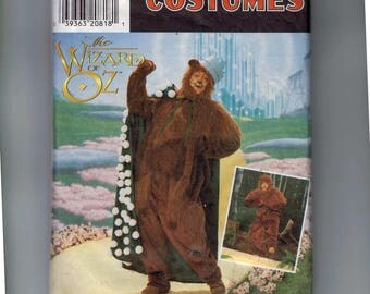 Misses Sewing Pattern Simplicity 7833 Wizard of Oz Cowardly Lion Halloween Costume CUT Size Medium Bust Chest 38 40 INCOMPLETE