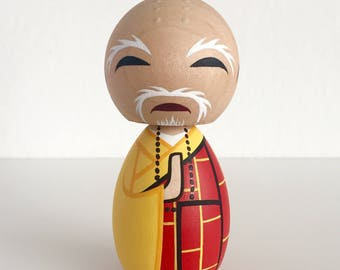Shaolin Temple Kung Fu Monk kokeshi doll (The Abbot)