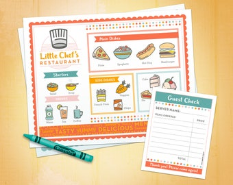 Restaurant Forms Printable - Kids Pretend Play Chef - Restaurant - Ice Cream Parlor - Dramatic Play - Homeschool - Classroom