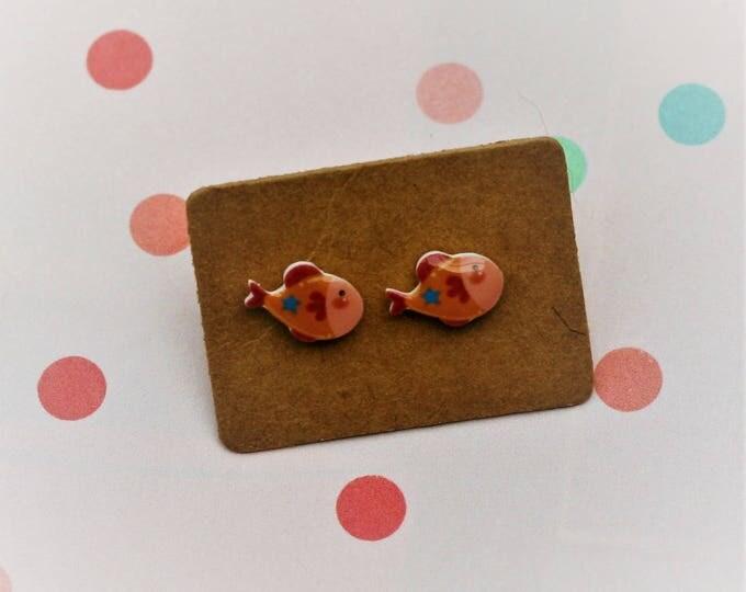 Fish Earrings, Teeny Tiny Earrings, Fish Jewelry, Cute Earrings