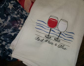 American Wine Tea Towel