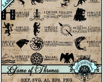 Game of Thrones SVG, G.O.T.s SVG, Mother of Dragons, Targaryen, Lannister, Stark, SVG, Cut file, cutting file, vinyl or decal