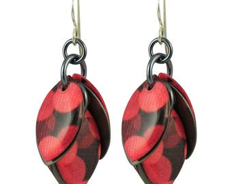 Cranberry Crush Petals to the Metal Earrings