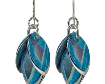 Blue Agave Petals to the Metal Earrings