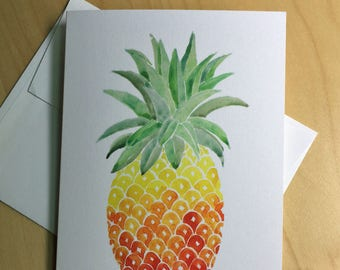 Pineapple Card - welcome card