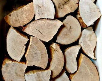 OAK SPLIT LOGS - decorative logs - chopped logs - rustic - interior - log stack - home decor - fill an empty fireplace - display logs