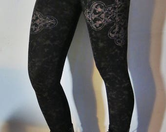 Hell Couture Kruzifixx Marbled Leggings