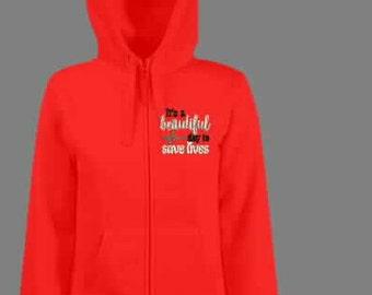 Its A Beautiful Day To Save Lives sweatshirt.  Greys Anatomy inspired sweatshirt.  Medical sweatshirt.  Nurse sweatshirt. ID-G18600