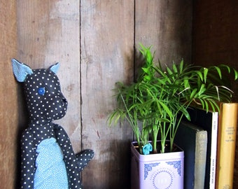 Wolf Pup Stuffie in Blues