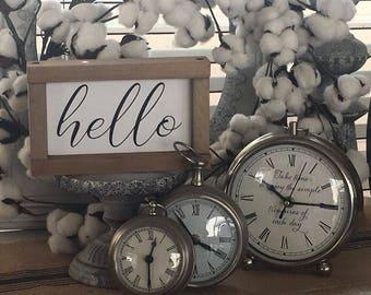Hello Sign | Hello Wall Art | Hand Script | Rustic Modern Sign | Wood Sign | Farmhouse Decor | Farmhouse Sign | Cottage Decor | Signs | 5x8
