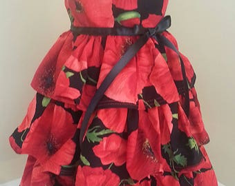 American Girl Doll Floral Ruffled Dress Free Shipping