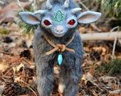 RESERVED for ebwolter: Yee, Baby Demon Goat - OOAK Art Doll