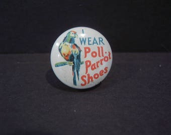 Vintage Poll Parrot Shoes Pinback