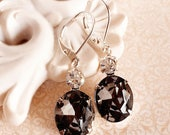 Present for Mom - Jewelry - Victorian Earrings - Black - MYSTERE Black Diamond