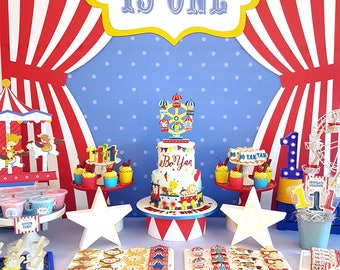 DIGITAL FILE Party Kit Carnival Animals Decorations Circus