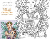 Punzella Fairy - Fairy Tangles Printable Coloring Book Pages by Norma J Burnell Coloring Book Sheets for adults Printable Coloring Pages