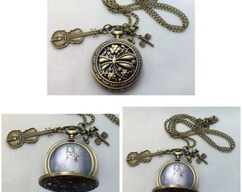 Upcycled Pocket Watch | Necklace | Wearable Art  | Dragonfly Necklace | A Dragonflies Song