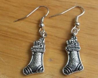 Christmas stocking earrings - Christmas earrings