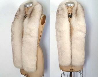 SALE Fox Fur Wrap Boa / XL scarf / bridal or party