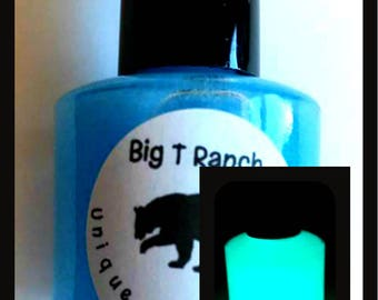 Glow-in-the-Dark Nail Polish - Blue Glows Green - NEPTUNE - Custom Blended Nail Polish - Regular Full Sized Bottle (15 ml size)