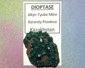 Sale DIOPTASE Natural Teal Blue Green Cut Crystal Mineral Specimen From Kazakhstan Sale