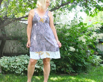 upcycled clothing, a-line dress . verwood . S
