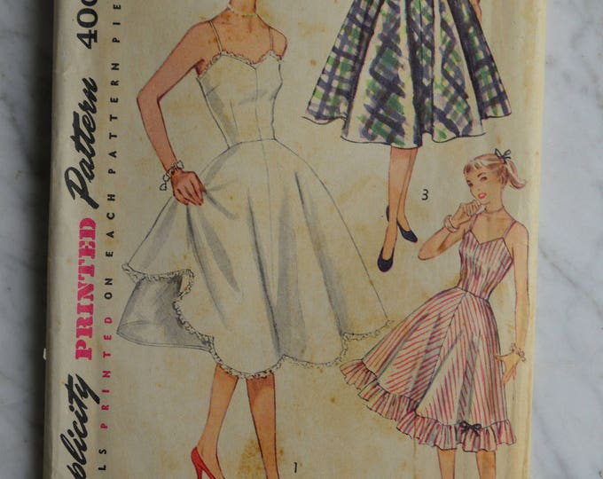 1950s Simplicity Dress Pattern, Sundress Pattern, Summer Dress Pattern, Swing Skirt Pattern, Women's Swing Dress Pattern, Pattern, No 3766