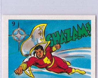 1976 DC Shazaam 9 Sticker in Mint Condition