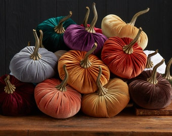 WHOLESALE listing, LARGE Velvet Pumpkins, MIN. 24 pieces Mix-Match