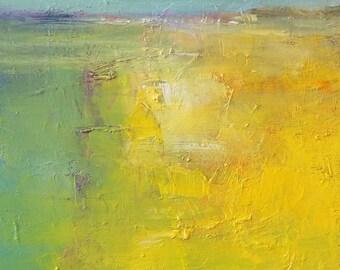 Small Box Painting 1714 - Original Oil Painting - 22.7 cm x 22.7 cm (app. 8.9 inch x 8.9 inch)