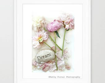 Peony Prints, Botanical Peony Flowers, Peony Photographs, Shabby Chic Decor, Peony Wall Art, Flower Photography, Peony Dream Floral Print