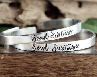 Soul Sisters Bracelets,  BFF Jewelry Gift, Soul Sister Jewelry Set, Best Friend Bracelet, Soul Sisters, Best Friend Jewelry, Friendship Gift