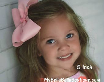 girls boutique bows, Big Bows, 5 inch bow, large hairbows, Pick 3, extra large bows, pageant bow, dance bows, cheer bow, x-tra large bow