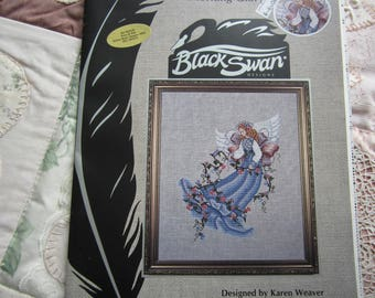 """Christmas Angel """"Morning Glory"""" Black Swan Designs. Karen Weaver. Instruction Booklet"""