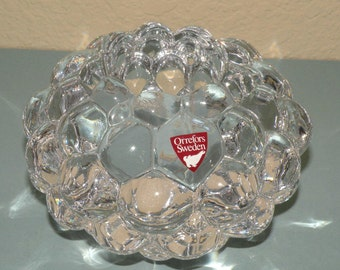 ORREFORS Sweden Bubble Candle Holder