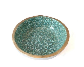 Turquoise Ring Dish - Trinket Dish - Decorative Bowl - Jewelry Holder - Gifts for Her - Gifts for Home - Bedroom Decor - House Warming Gift