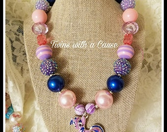 My Pony Necklace,Chunky Bead My pony necklace, Accessories for girls, Toddler girls chunky necklace, Birthday necklace,Horse Necklace