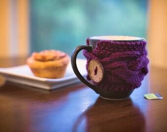 Knit Coffee Cozy, Knit Coffee Sleeve, Coffee Mug Cozy, Knit Cup Cozy, Knit Coffee Cup Cozy, Tea Cozy, Coffee Mug Sleeve, Coffee Cup Sleeve