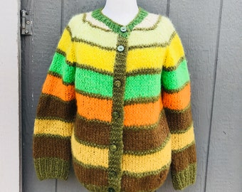Vintage mohair sweater, mohair cardigan, vintage 80's mohair sweater, oversized chunky sweater, vintage sweater